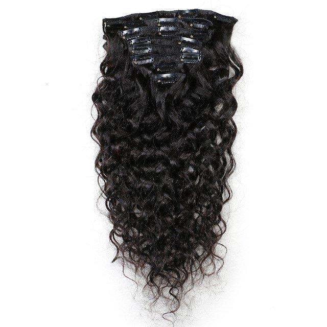 mon-kossa-Haar-Clip-In-Human-Hair-Extensions-Natuurlijke-Kleur-8-Stuks-set-Braziliaanse-Natuurlijke-Wave-Remy